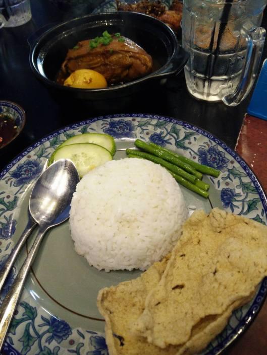 Kay Hong with white rice